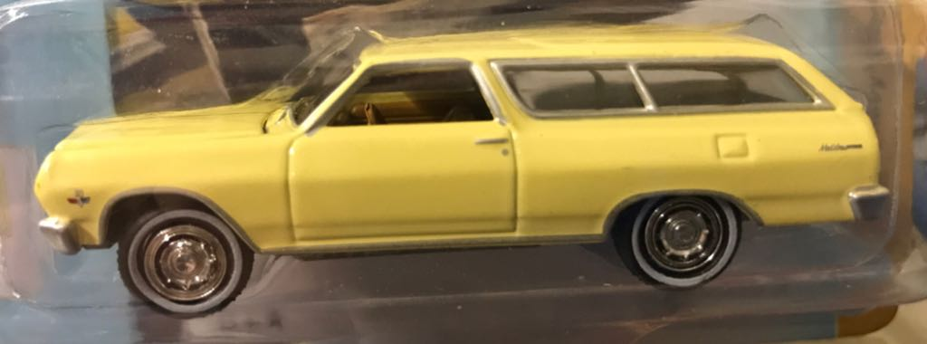 Johnny Lightning Classic Gold Collection Toy Car, Die Cast, And Hot Wheels - 1966 Chevy Chevelle 2-Door Wagon (2018) back image (back cover, second image)