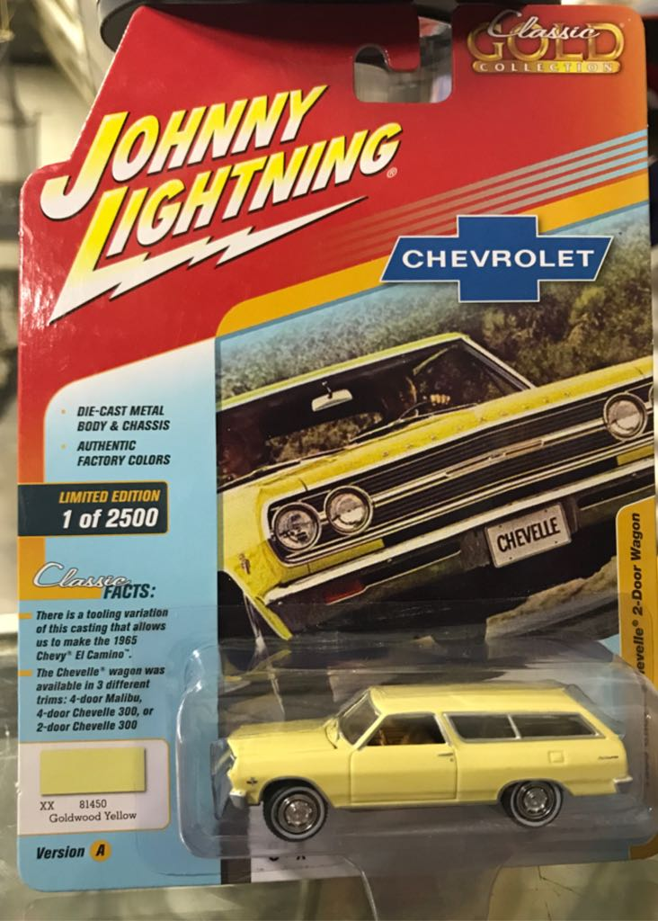 Johnny Lightning Classic Gold Collection Toy Car, Die Cast, And Hot Wheels - 1966 Chevy Chevelle 2-Door Wagon (2018) front image (front cover)