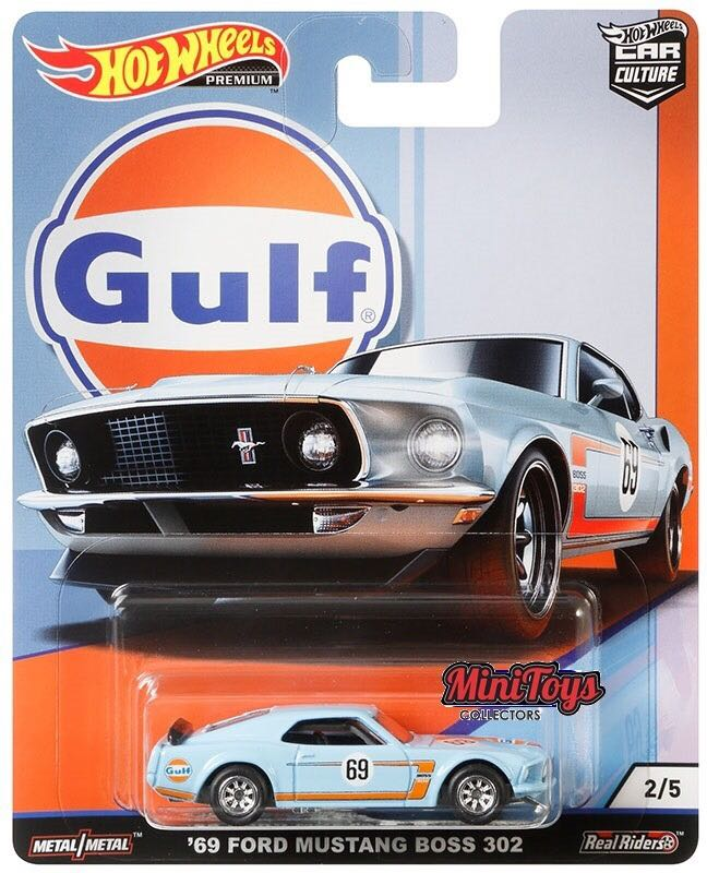 1969 Mustang Biss 302 Gulf Toy Car, Die Cast, And Hot Wheels - Hot Wheels (2018) back image (back cover, second image)
