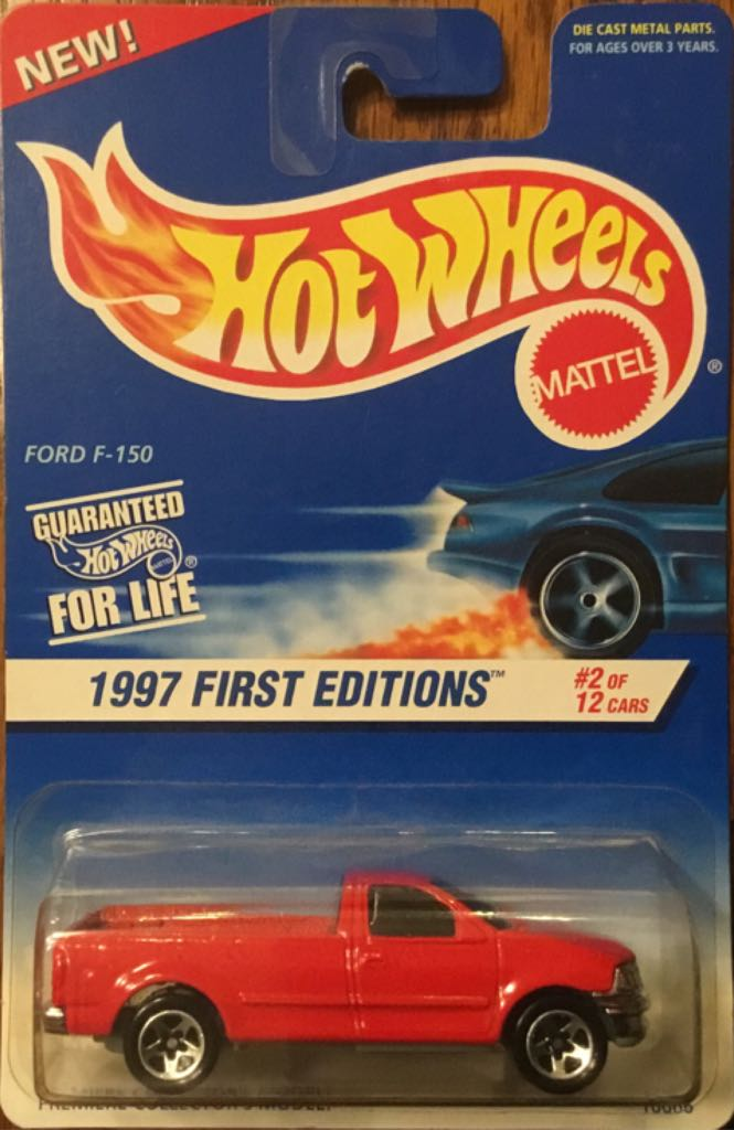 Ford F-150 Toy Car, Die Cast, And Hot Wheels - Ford F-150 (1997) front image (front cover)