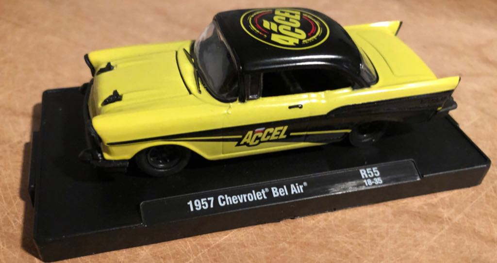Chevrolet Bel Air '57 Toy Car, Die Cast, And Hot Wheels front image (front cover)