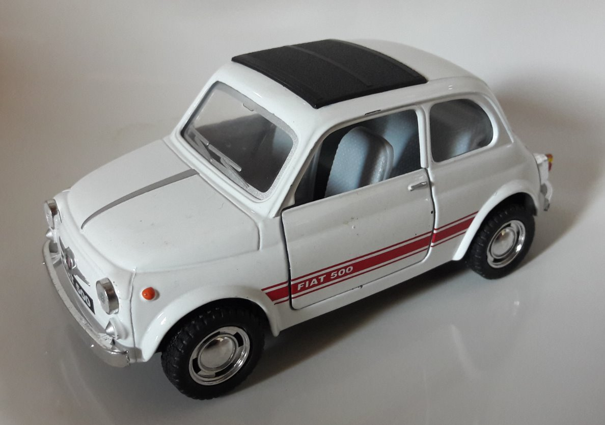Fiat 500 Toy Car, Die Cast, And Hot Wheels - Tettuccio chiuso front image (front cover)