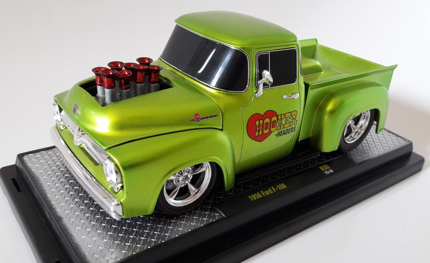 Ford F-100 Hooker Headers Toy Car, Die Cast, And Hot Wheels (1956) front image (front cover)