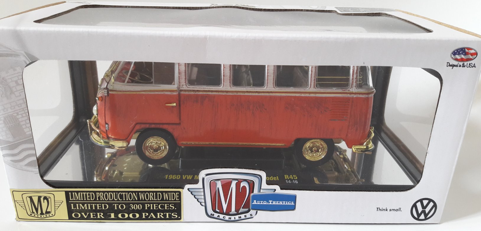 VW Microbus Deluxe USA Model Toy Car, Die Cast, And Hot Wheels - Rottame (1960) back image (back cover, second image)