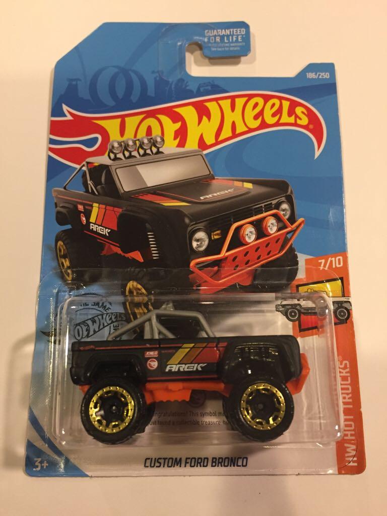 HOT WHEELS Treasure Hunt Custom Ford Bronco Black