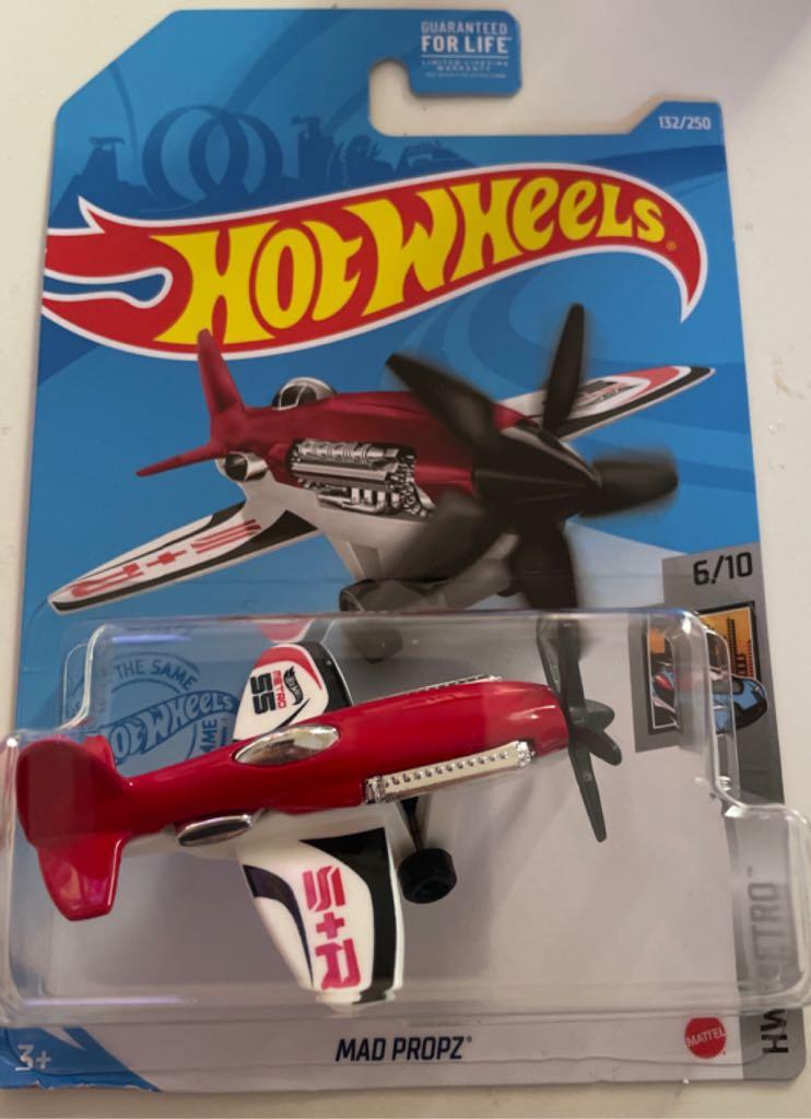 DieCast Hotwheels Mad Propz red//White HW Metro 6//10 132//250