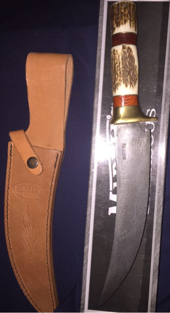 Marble's Damascus Knive And Sword - Knife front image (front cover)