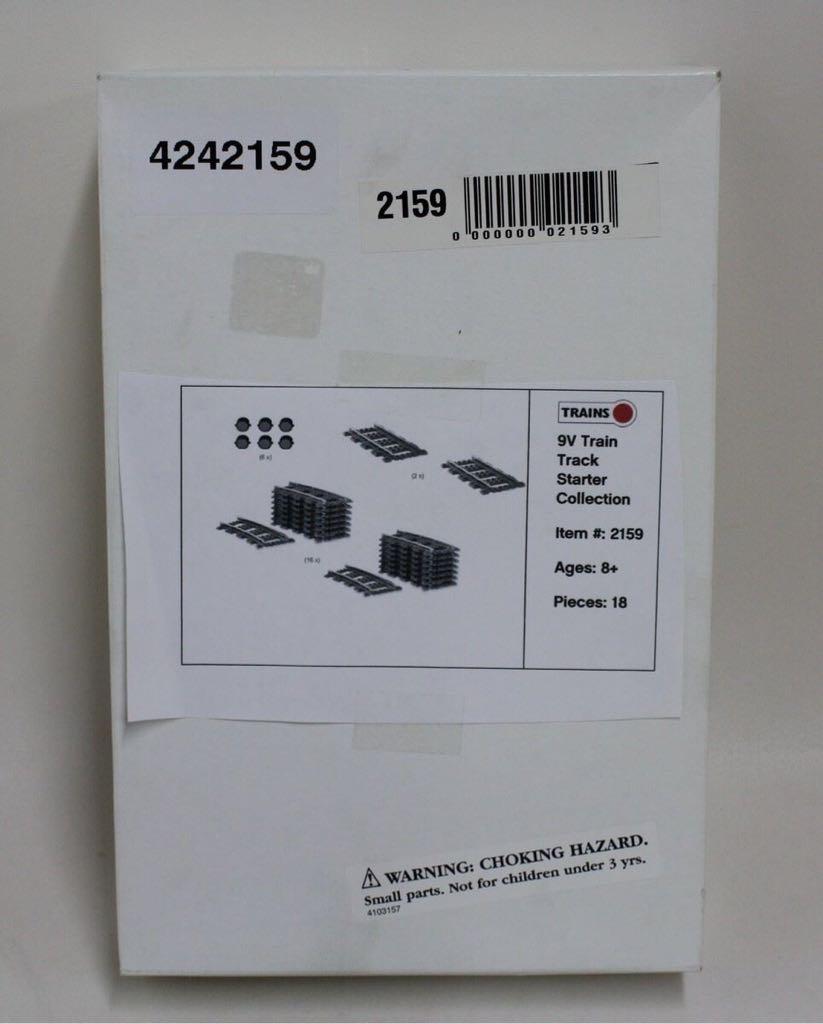 9V Track Starter Kit LEGO - City: Trains (2159) back image (back cover, second image)