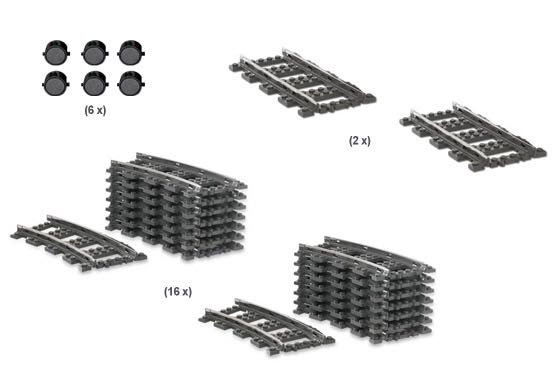 9V Track Starter Kit LEGO - City: Trains (2159) front image (front cover)