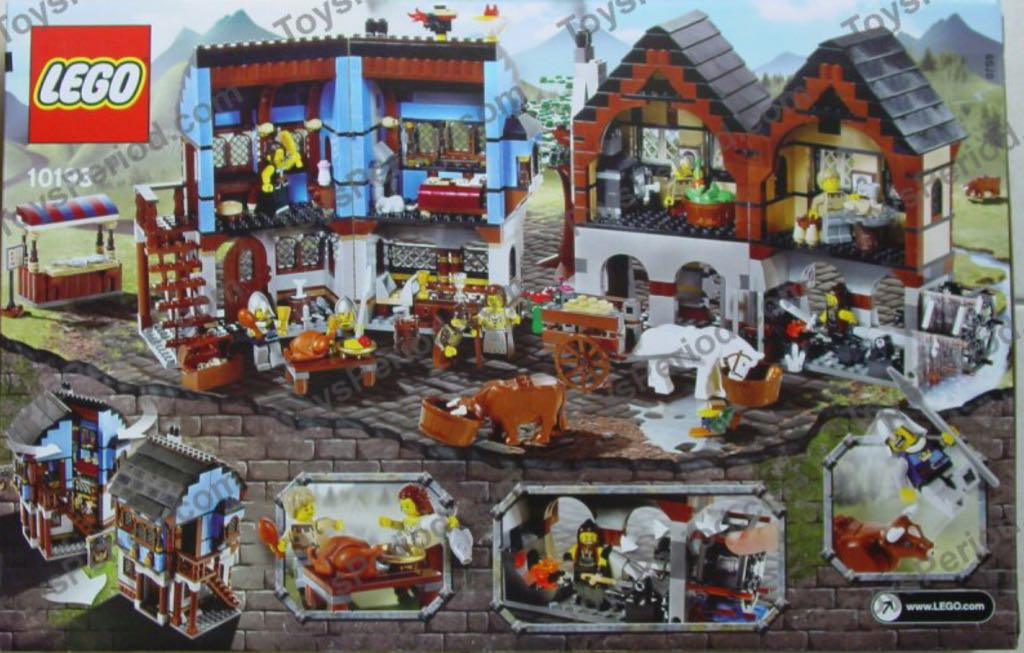 Medieval Market Village LEGO - Castle (10193) back image (back cover, second image)