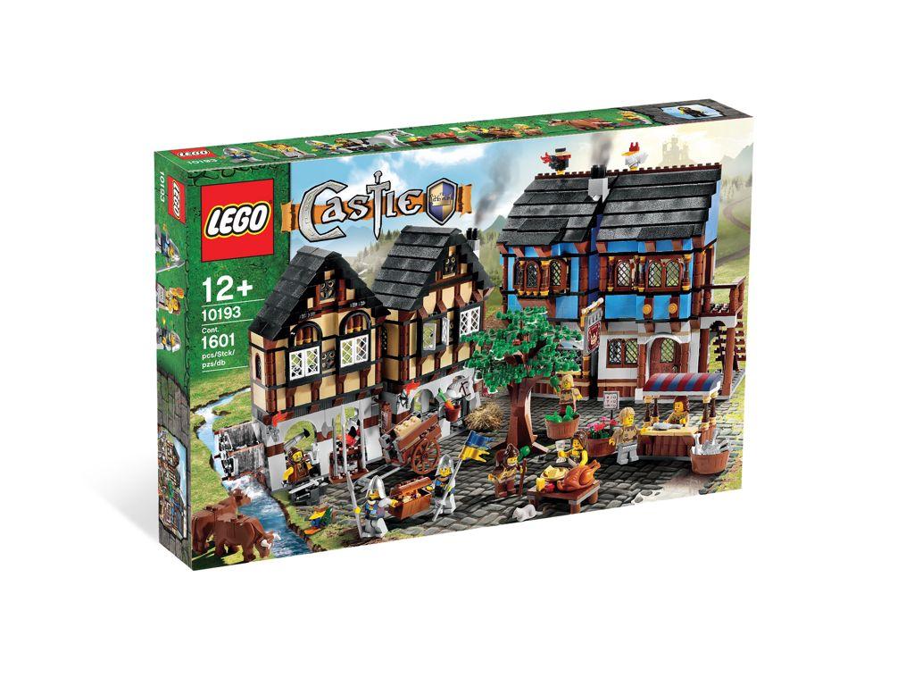 Medieval Market Village LEGO - Castle (10193) front image (front cover)