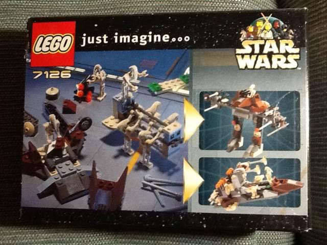Battle Droid Carrier LEGO - Star Wars (7126) back image (back cover, second image)