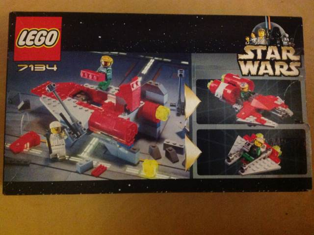 A-Wing Fighter LEGO - Star Wars (7134) back image (back cover, second image)