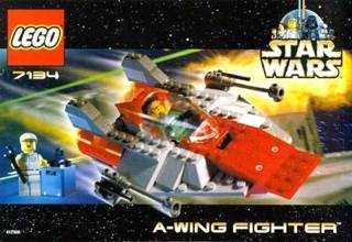 A-Wing Fighter LEGO - Star Wars (7134) front image (front cover)