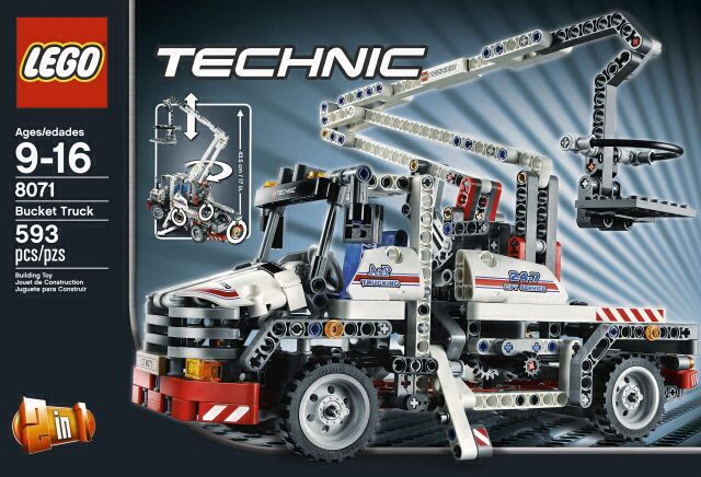 Bucket Truck LEGO - Technic (8071) front image (front cover)