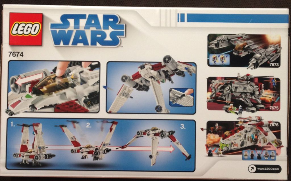 Bounty Hunter Assault Gunship LEGO - Star Wars (7930) back image (back cover, second image)