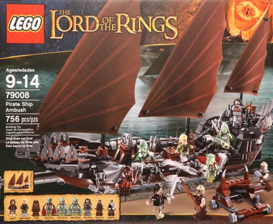 Pirate Ship Ambush LEGO - Lord of the Rings (79008) front image (front cover)