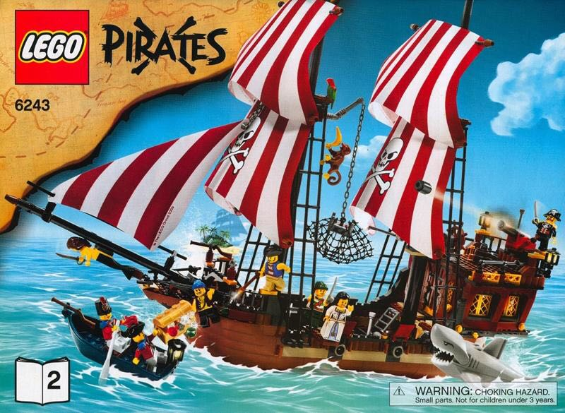 Pirates LEGO (6243) front image (front cover)