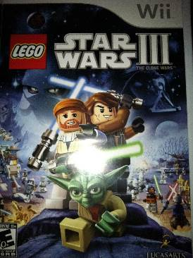Lego Star Wars III LEGO front image (front cover)