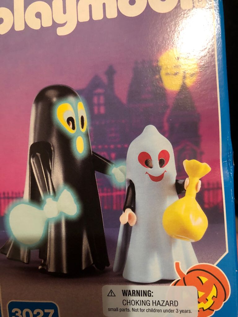 Play Mobile ghost LEGO (3027) front image (front cover)