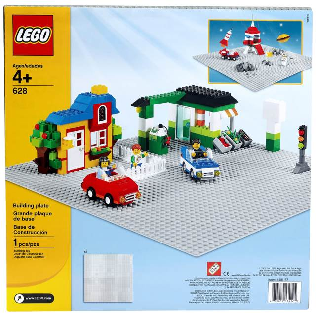 LEGO Bricks & More X-Large Building Plate - Grey 628 LEGO - Bulk Bricks (628) front image (front cover)