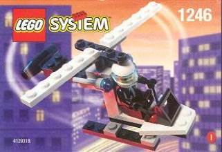 Mini Figure#1246 Helicopter LEGO - City (1246) front image (front cover)