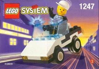 Patrol Car LEGO - City (1247) front image (front cover)