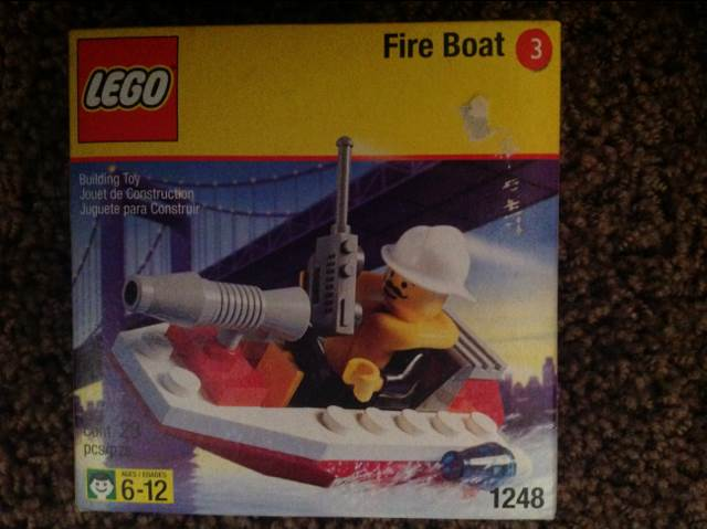 Fire Boat LEGO - City (1248) front image (front cover)