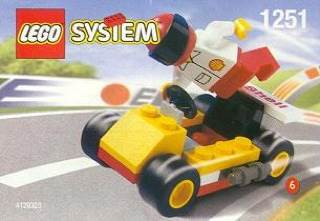 Go-Cart Kart LEGO - Shell Promo (1251) front image (front cover)