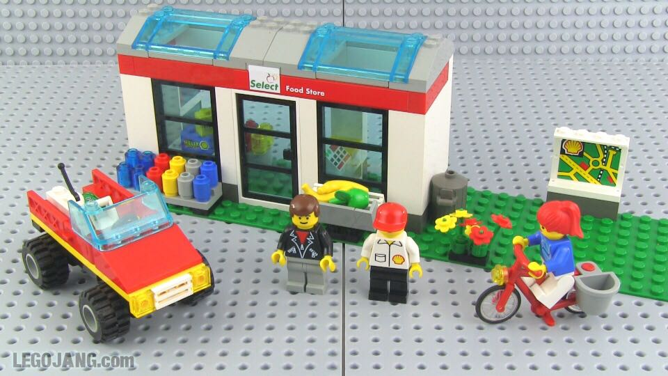 Convenience Store LEGO - City (1254) back image (back cover, second image)