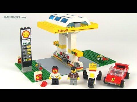 Shell Petrol Station LEGO - Shell (1256) back image (back cover, second image)