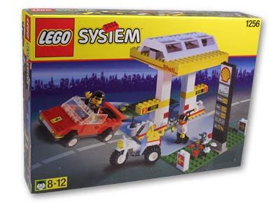 Shell Petrol Station LEGO - Shell (1256) front image (front cover)