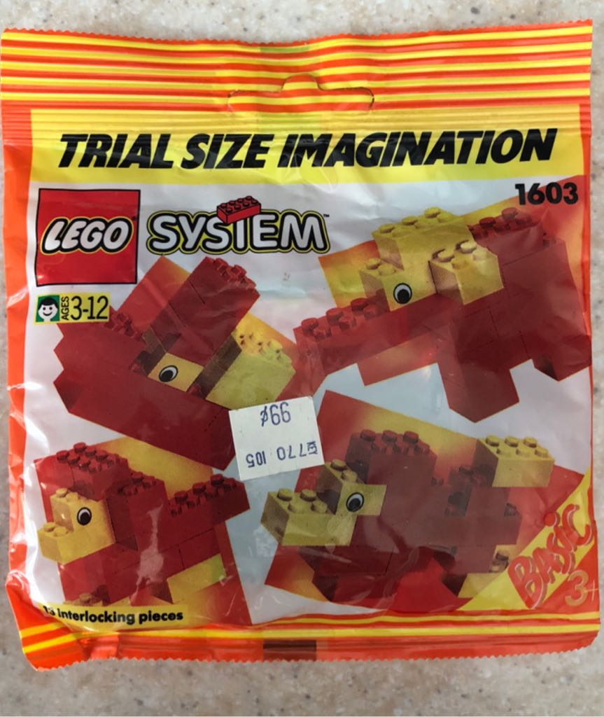 Trial Size Imagination LEGO - Lego System (1603) front image (front cover)