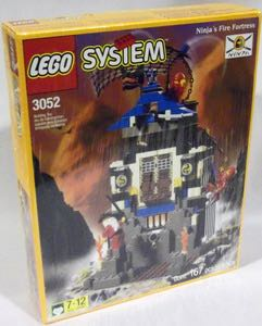 Ninja's Fire Fortress LEGO - Ninja (3052) front image (front cover)
