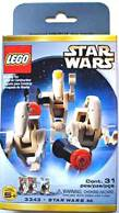 LEGO Star Wars Mini Figure Set #3343 Battle Droid Commander & 2 Battle Droids LEGO (3343) front image (front cover)