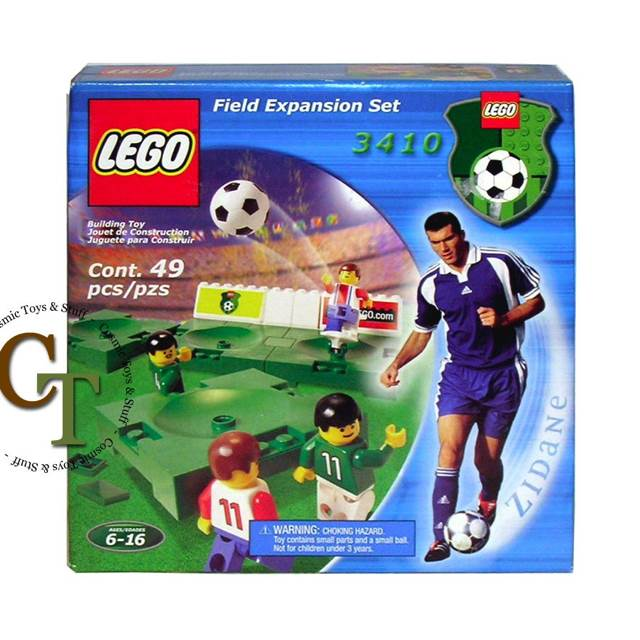 Field Expansion Set LEGO - Soccer (3410) front image (front cover)