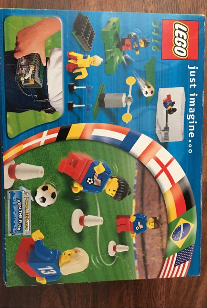 LEGO Sports Football Women's OLYMPIC Soccer Team LEGO (3416) back image (back cover, second image)