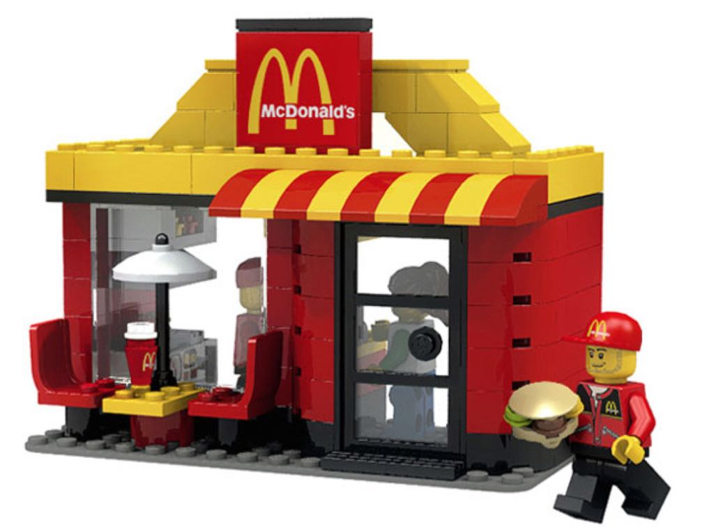 McDonald's LEGO - City (3438) back image (back cover, second image)
