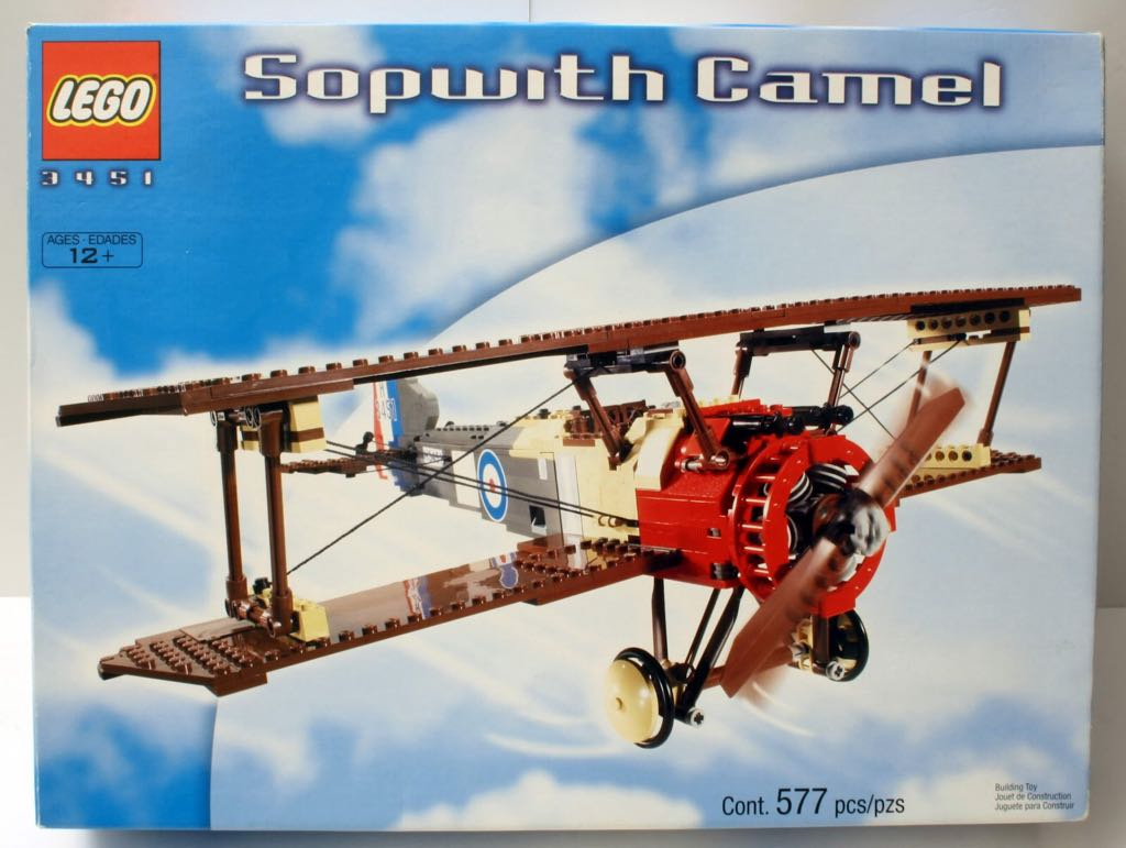 Sopwith Camel LEGO - Creator (3451) front image (front cover)