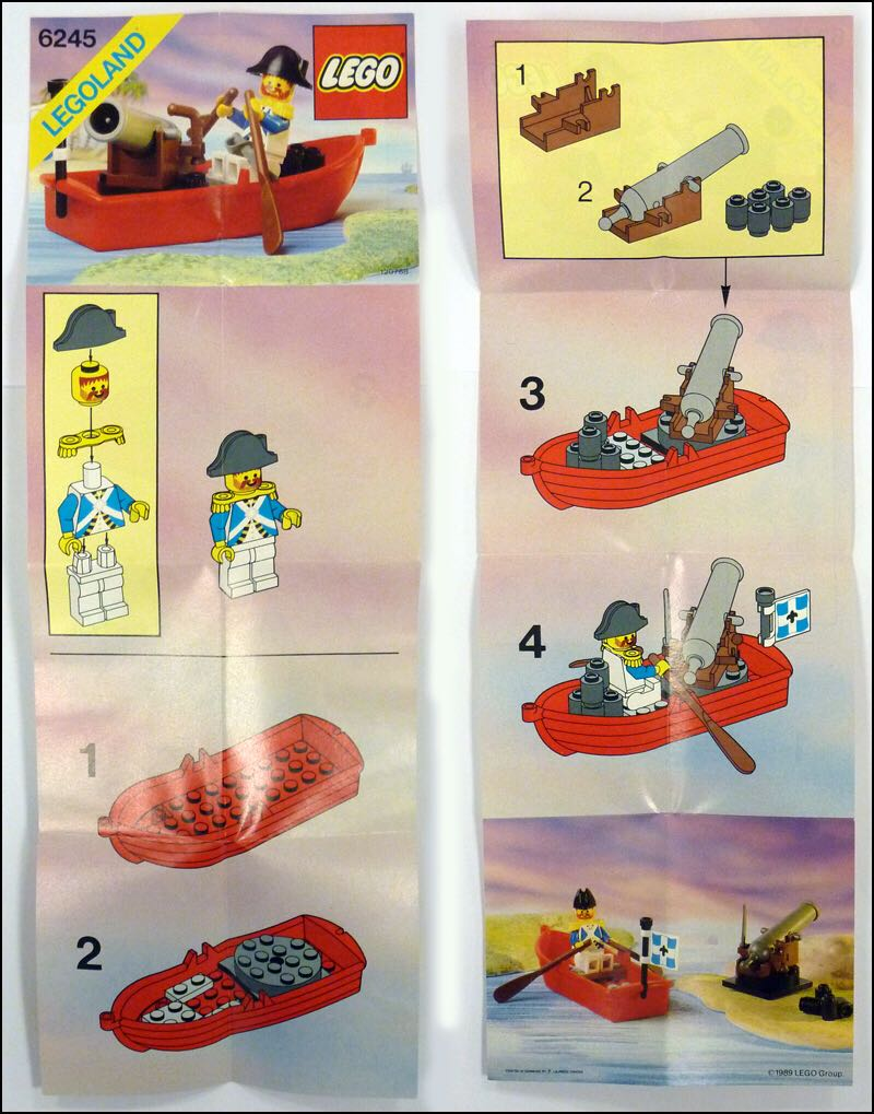 Harbor Sentry LEGO - Pirates (6245) back image (back cover, second image