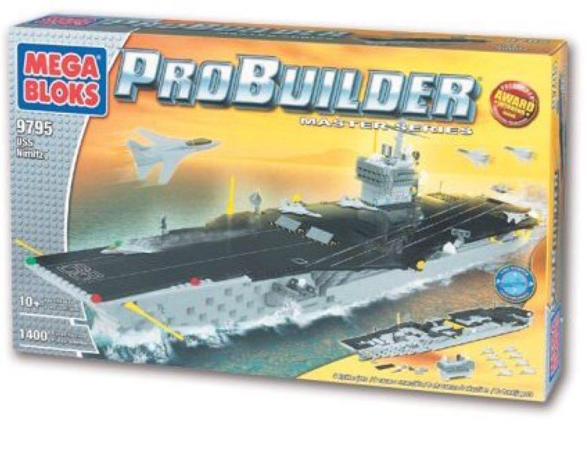 USS Nimitz LEGO - Pro Builder (9795) front image (front cover)