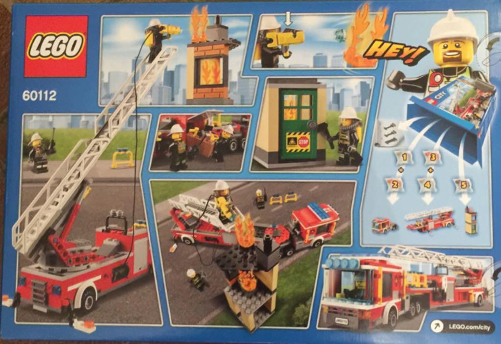 lego city pompiers le grand camion lego city 60112 back image - Lego City Pompier