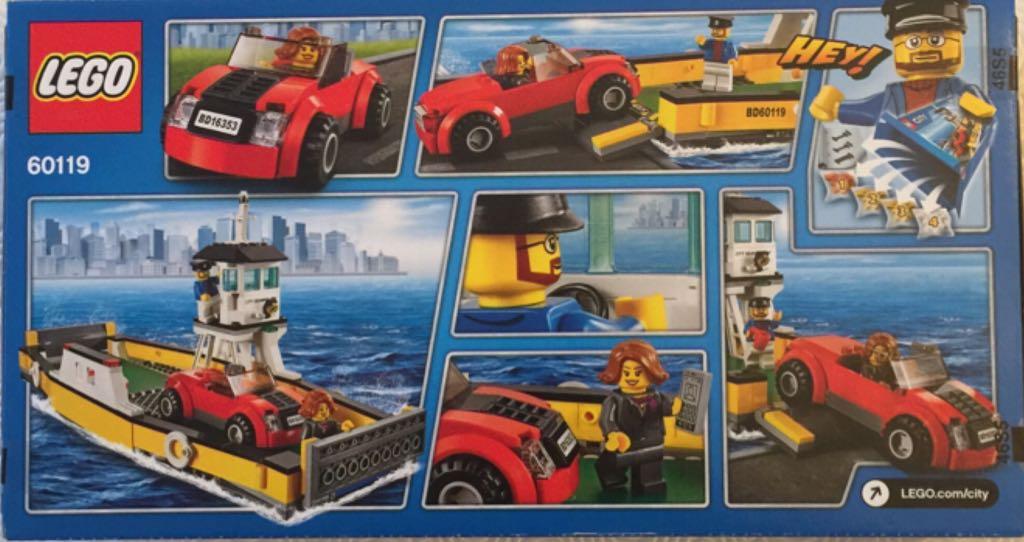 bateau bac pour voitures lego city 60119 back image back cover - Lego City Bateau