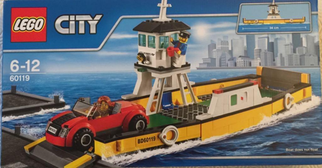 bateau bac pour voitures lego city 60119 front image front cover - Lego City Bateau