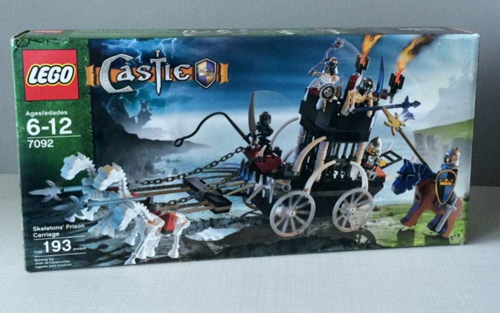 Lego Castle Skeletons Prison Carriage Lego Castle 7092 From