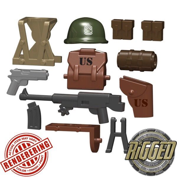 Sarge' Accessory Pack, Series 1 LEGO - WW2 (050101) - from