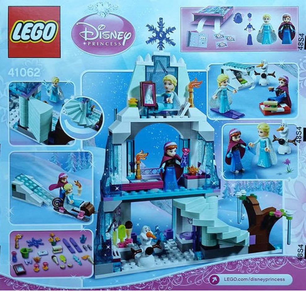 Elsa's Sparkling Ice Castle LEGO - Disney Princesses (41062) back image (back cover