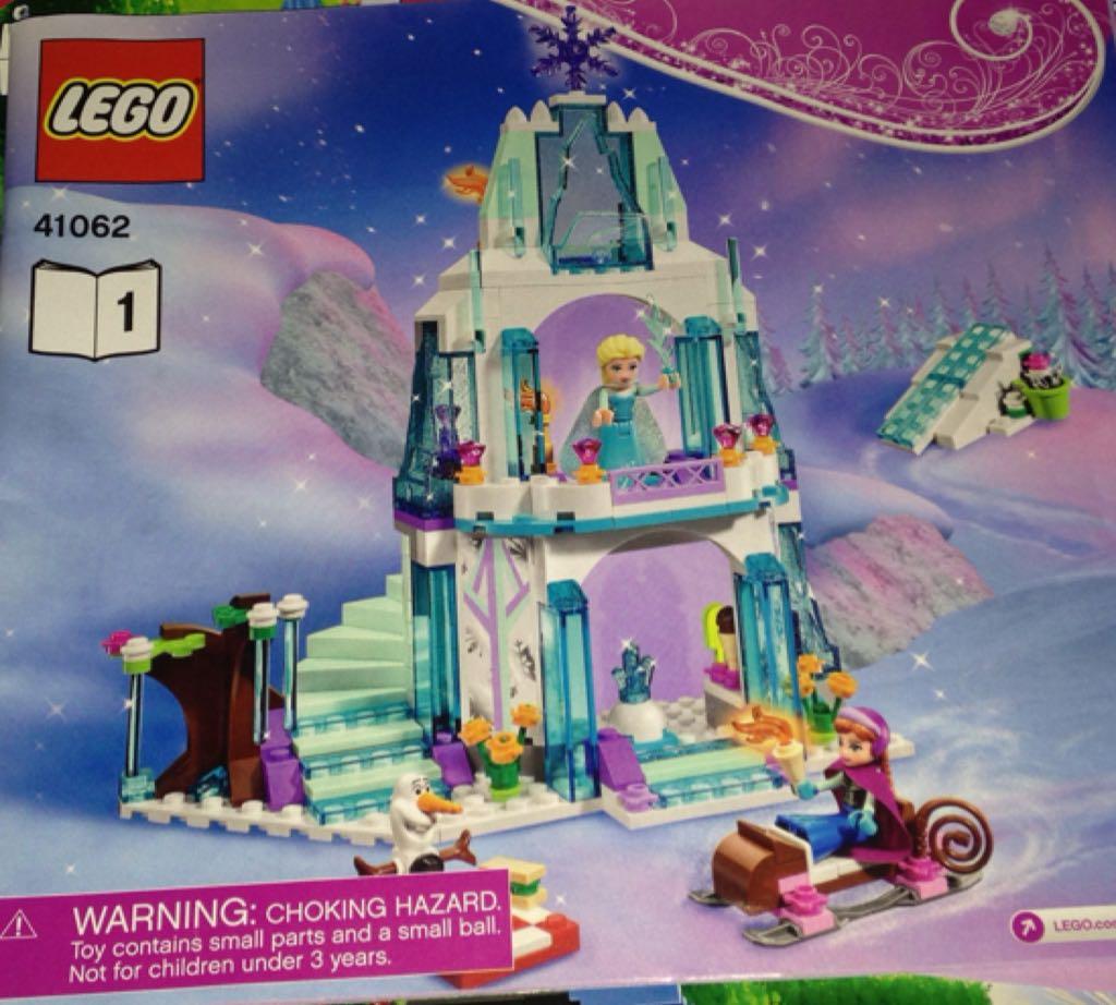 Elsa's Sparkling Ice Castle LEGO - Disney Princesses (41062) front image (front cover