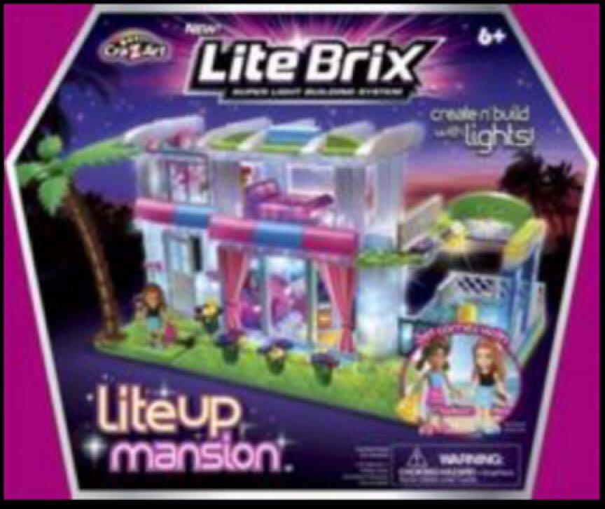 Lite Brix Cra-Z-Art LiteUp Mansion LEGO - Lite Brix (35703) - from ...