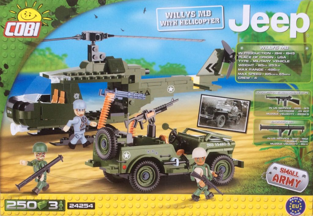 Panzer Willys MD with Helicopter LEGO - Battle Vehicles (24254) back image  (back